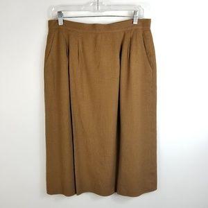 Vtg Pendleton Woman A-line Skirt Sz 14 Brown